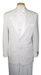 BUDGET BLEND WHITE 2 BUTTON NOTCH LAPEL TUXEDO PACKAGE
