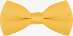 "SEGAL ""POLY-SATIN"" 2"" CLIP-ON YELLOW GOLD BOW TIE"
