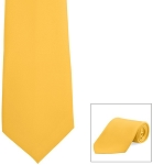 YELLOW GOLD POLY SATIN LONG TIE