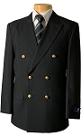 MEN'S VSA BLACK DOUBLE BREASTED BLAZER JACKET - #Z76B-01
