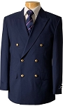 VSA NAVY BLUE DOUBLE BREASTED BLAZER JACKET - MEN'S
