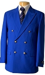 VSA ROYAL BLUE DOUBLE BREASTED BLAZER JACKET - MEN'S