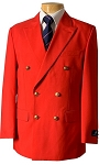 VSA RED DOUBLE BREASTED BLAZER JACKET - MEN'S