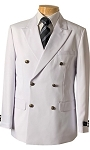 VSA WHITE DOUBLE BREASTED BLAZER JACKET - MEN'S