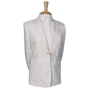 """Ultralux"" Women's White Blazer Jacket #2000-70"