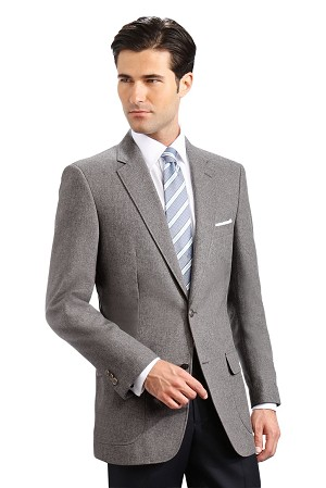 """Career Basics"" Men's Grey Blazer Jacket #2011C-02"