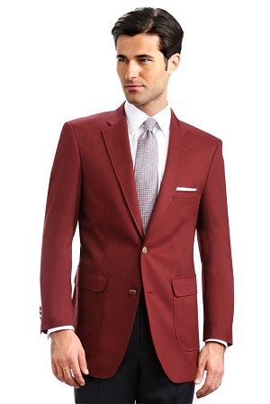 """Career Basics"" Men's Burgundy Blazer Jacket #2011C-45"