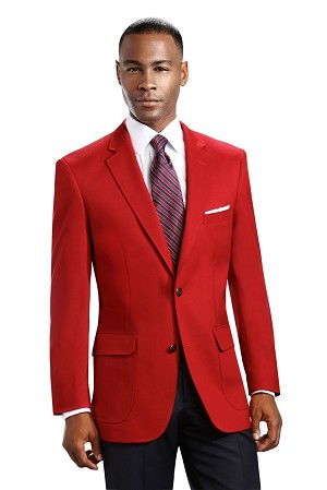 NEIL ALLYN RED CAREER BASICS POLYESTER BLAZER JACKET