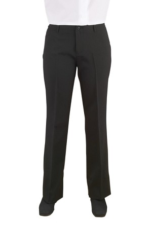 NEIL ALLYN CAREER BASICS BLACK FLAT FRONT LOW RISE DRESS PANTS - WOMEN'S