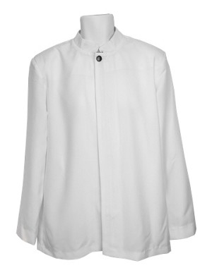 "Neil Allyn ""Comfort Poly"" Men's White Busser Jacket #3004C-70"