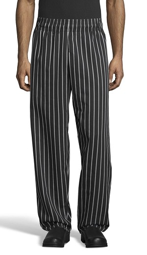 CHALK STRIPE CLASSIC BAGGY CHEF PANTS