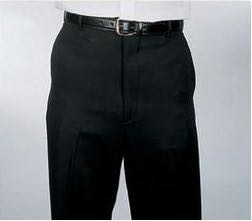 SEGAL BLACK FLAT FRONT DURAWEAR DRESS PANTS
