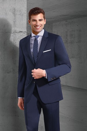 "COUTURE 1910 NAVY BLEND 2 BUTTON ""SLIM FIT"" NOTCH SUIT JACKET"