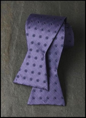 IKE BEHAR PURPLE CONCENTRIC CIRCLE SILK TIE TO TIE BOW  - CLOSEOUT