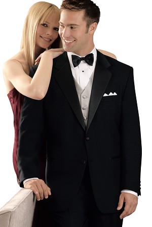84d220163f0 neil allyn black wool 2 button notch lapel tuxedo jacket - men's
