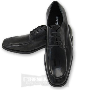 EBONY UPTOWN MOC FORMAL SHOES - BLACK CLOSEOUT