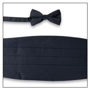 PREMIER SATIN CUMMERBUND & BOW TIE SET - CHARCOAL
