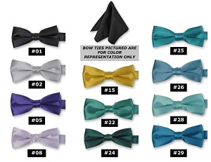 DELUXE SATIN POCKET SQUARE / HANKIE - ASSORTED COLORS CLOSEOUT