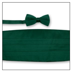 PREMIER SATIN CUMMERBUND & BOW TIE SET - HUNTER GREEN