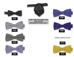 CLASSIC POLY SATIN PEARL TIE - ASSORTED COLORS CLOSEOUT
