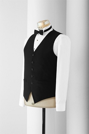 NEIL ALLYN BLACK COMFORT STRETCH POLYESTER SERVER VEST - MEN'S