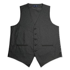 Men's Black Jazz Paisley Vest #VT130V-01