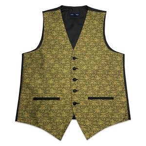 Men's Gold Jazz Paisley Vest # VT130V-14