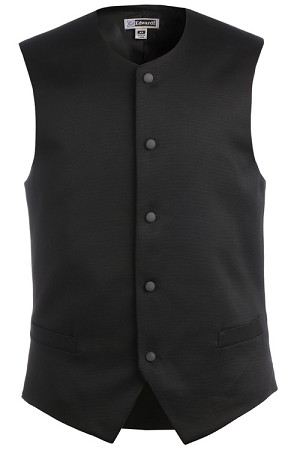 MENS BLACK FULL BACK BISTRO VEST