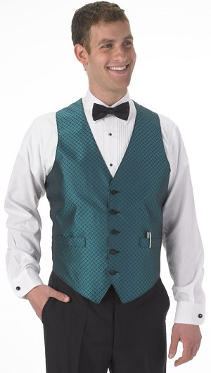 SEGAL FIESTA FULL BACK VEST - MEN'S TEAL