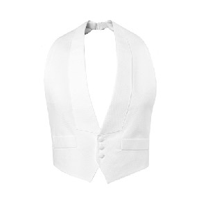 WHITE DELUXE PIQUE BACKLESS VEST