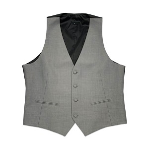 Ike Behar Heather Grey Vest - 8360V-02