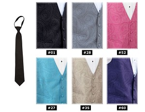 DYNASTY PAISLEY PRE-TIED WINDSOR TIE - ASSORTED COLORS
