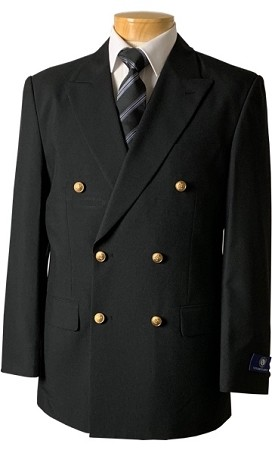 VSA BLACK DOUBLE BREASTED BLAZER JACKET - MEN'S CLOSEOUT